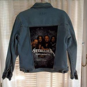 Custom Metallica denim jacket